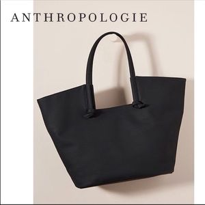 Anthropologie Kaitlyn Knotted Black Tote
